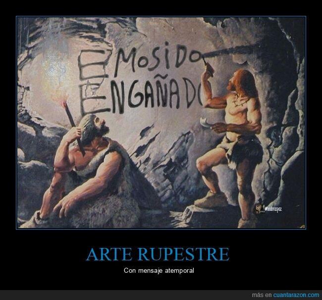 arte rupestre,emosido engañado