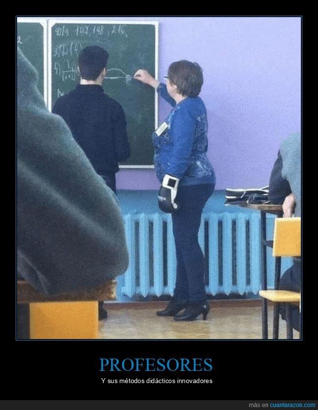 clase,guante de boxeo,profesores,wtf