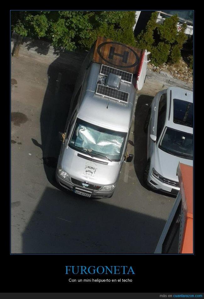 furgoneta,helipuerto,wtf