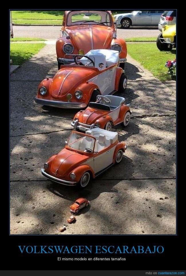 escarabajo,tamaños,volkswagen
