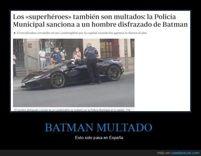 batman,multa,policía