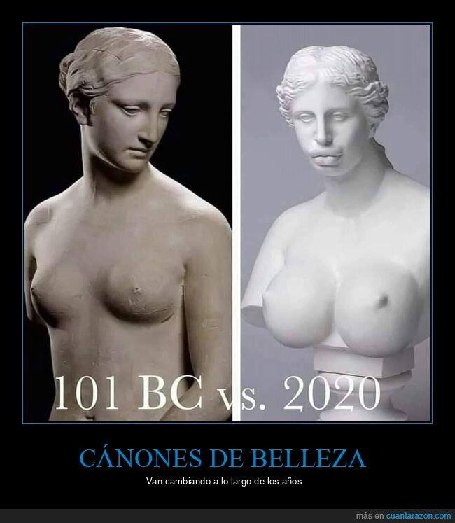 ahora,antes,esculturas,mujeres
