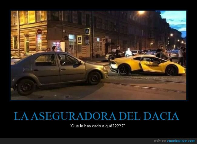 accidente,aseguradora,coches,dacia,fails,lamborghini
