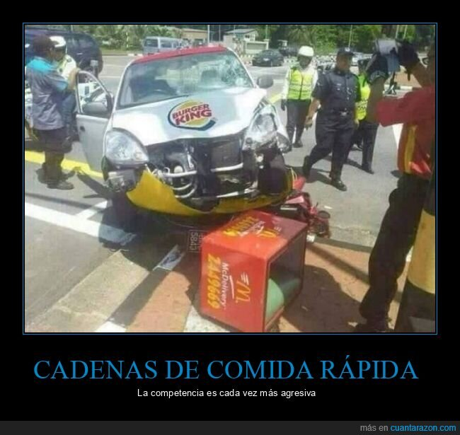burger king,coche,fails,mcdonald's,moto
