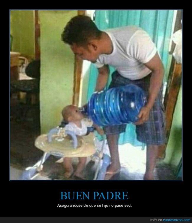 agua,bebé,garrafa,hijo,padre,wtf