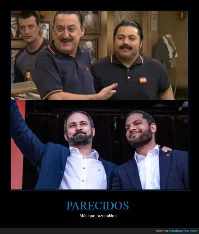 mauricio colmenero,parecidos,políticos,santiago abascal