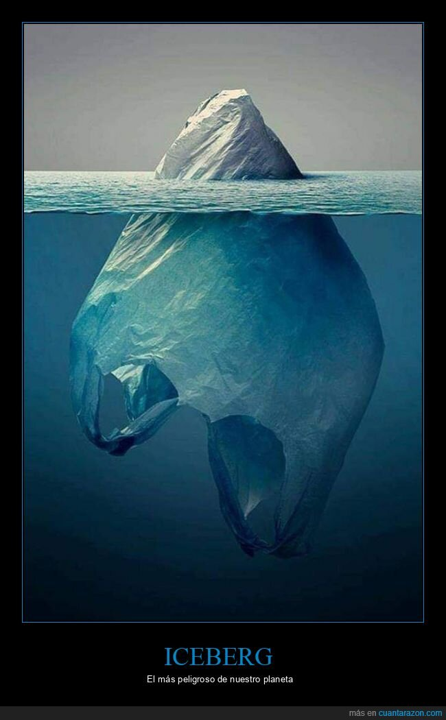 bolsa,iceberg,plástico