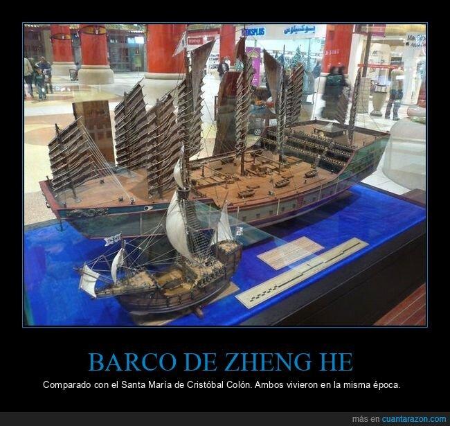 barcos,comparativa,cristobal colón,zheng he