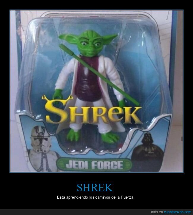 fails,muñeco,shrek,star wars,yoda