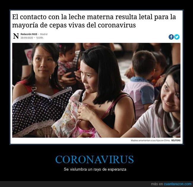 coronavirus,leche materna