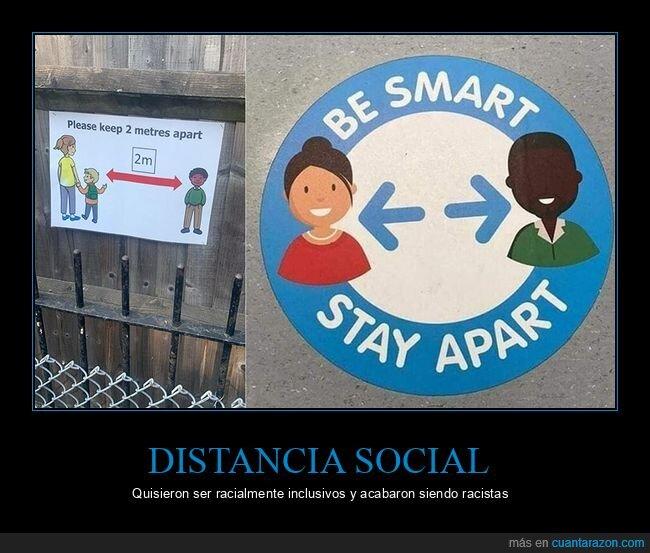 distancia social,fails
