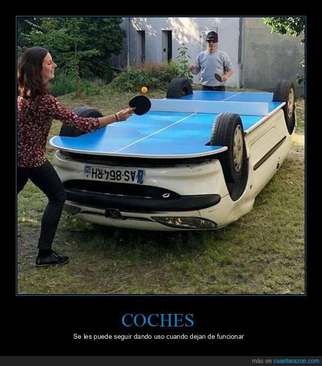 coche,mesa de ping pong,wtf