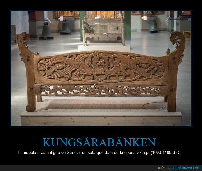antiguo,kungsårabänken,sofá,suecia,vikingos
