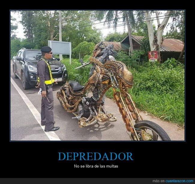 alien,depredador,moto,policía,wtf
