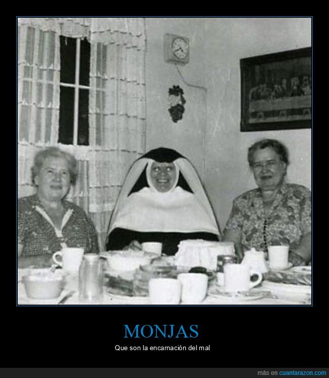 miedo,monja,wtf