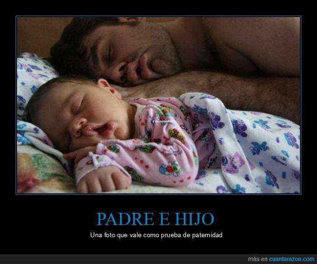 durmiendo,hijo,padre,parecidos