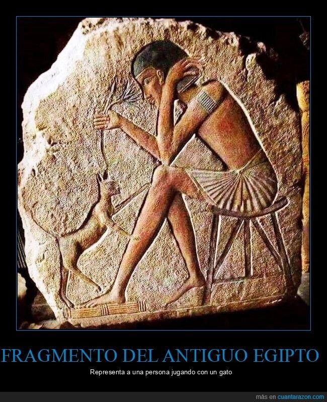 egipto,gato,jugando