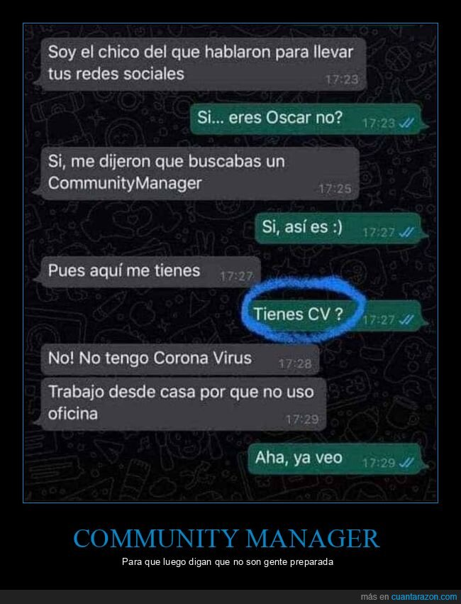 community manager,currículum,fails,monguers,whatsapp