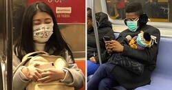 Enlace a Las mascarillas anticoronavirus más ridículas vistas en el metro