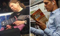 Enlace a Personas que vieron a gente leyendo libros tan raros en el metro, que tuvieron que documentarlo