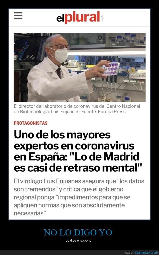 coronavirus,experto,madrid,retraso mental