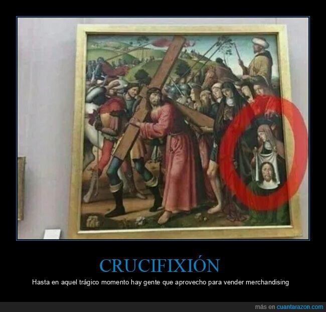 arte,crucifixión,merchandising,santa faz