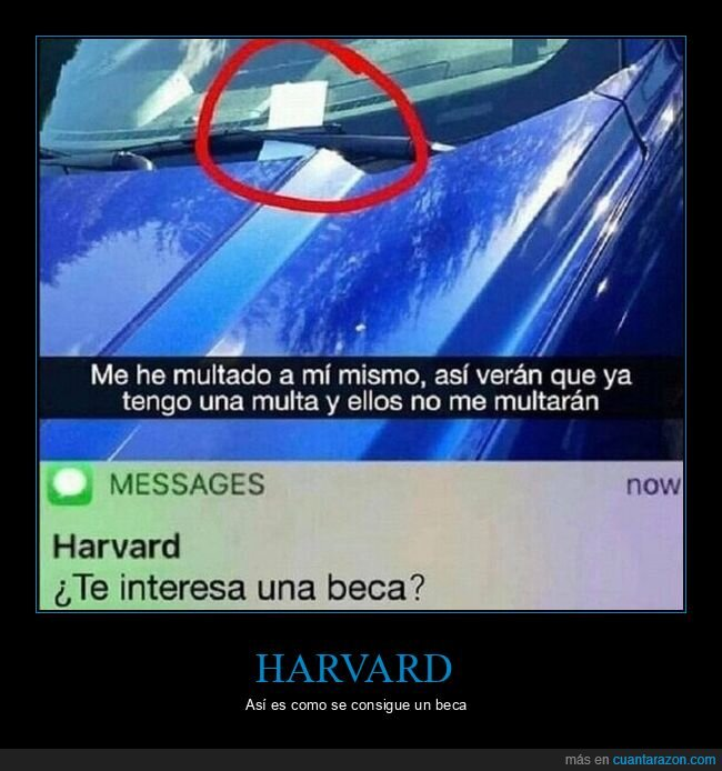 coches,harvard,multa