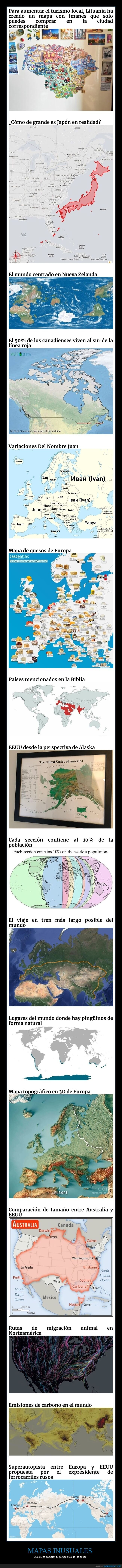 inusuales,mapas,perspectiva