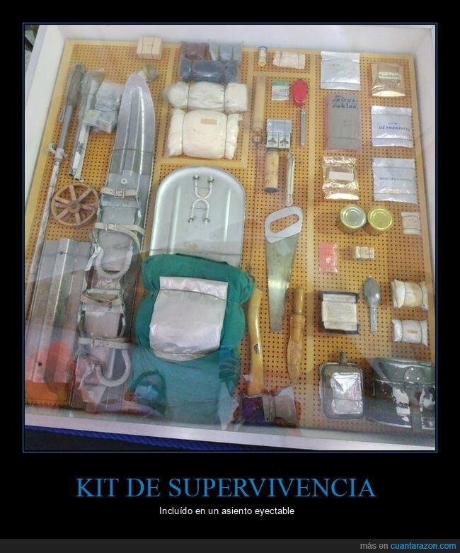 asiento eyectable,kit de supervivencia