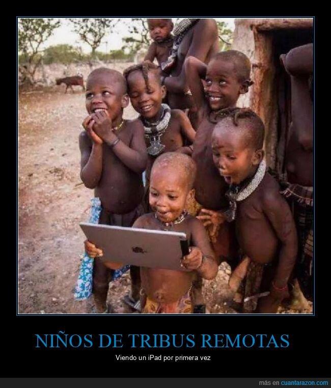 ipad,niños,tribu