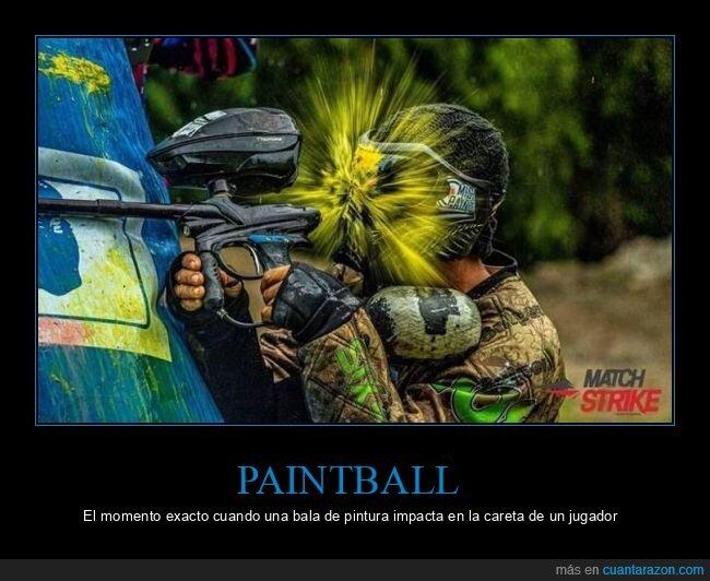 bola de pintura,momento exacto,paintball