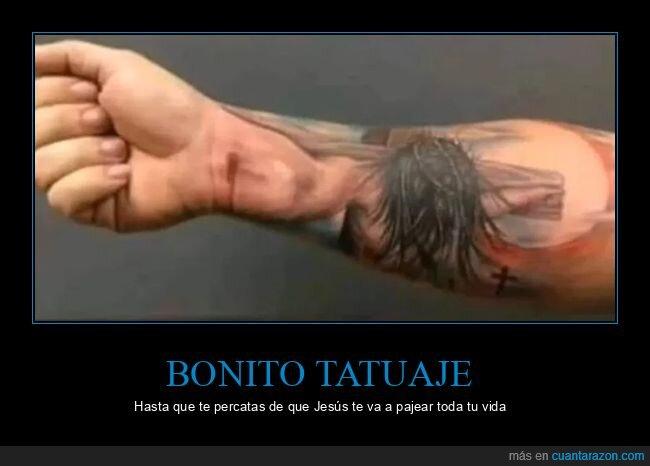 cristo,fails,mano,tatuaje