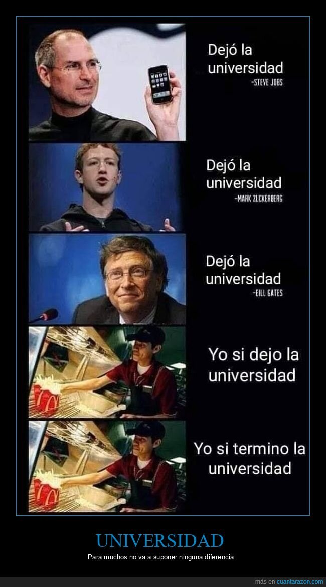 bill gates,dejar,mark zuckerberg,steve jobs,universidad