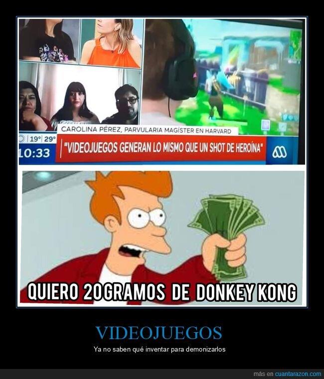 comparación,drogas,videojuegos