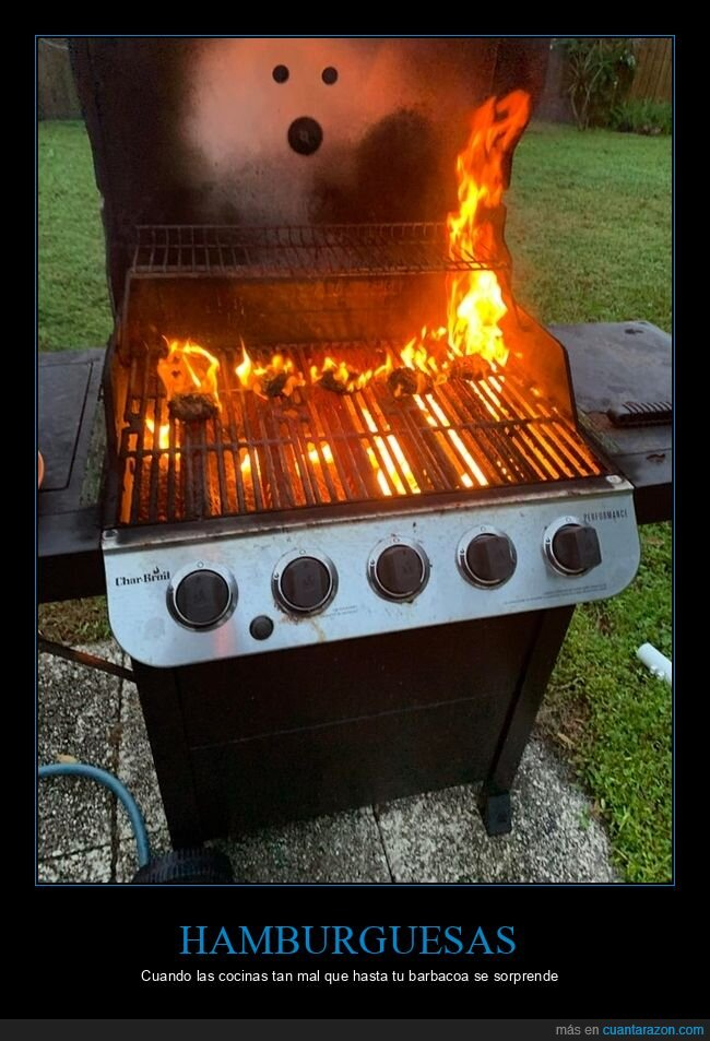 barbacoa,hamburguesas,quemadas