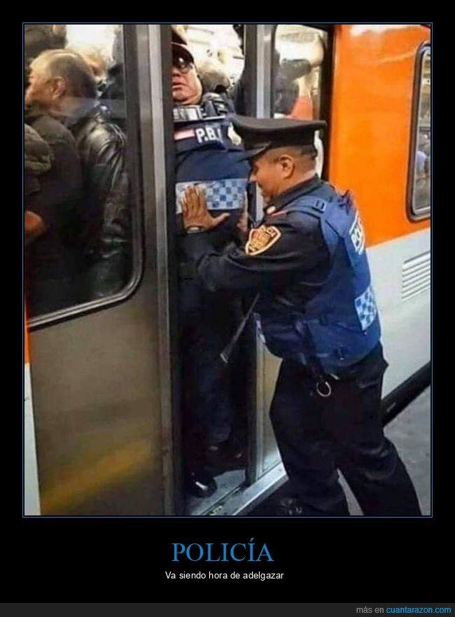 metro,policía,wtf