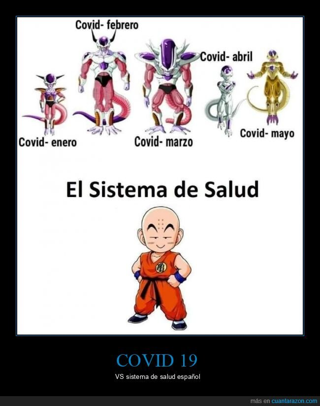 coronavirus,dragon ball,freezer,krilin,sistema de salud
