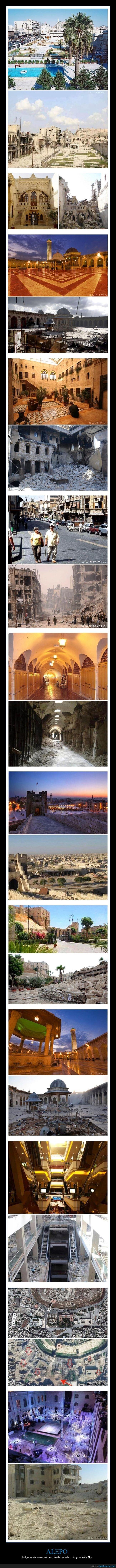 alepo,antes,después,guerra,siria