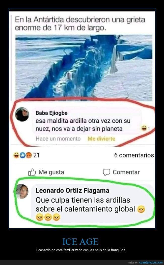 antártida,ardilla,grieta,ice age