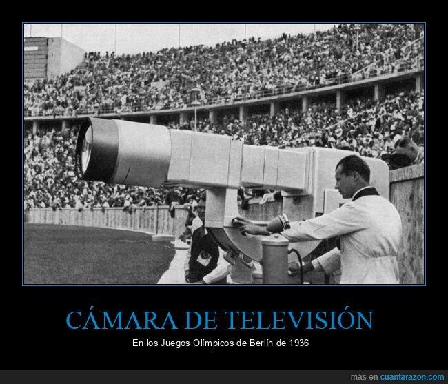 1936,cámara de televisión,juegos olímpicos