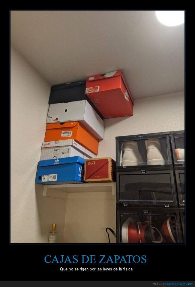 cajas,física,wtf,zapatos