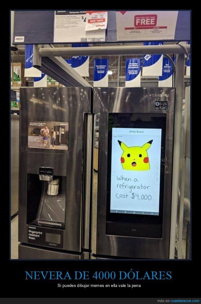memes,nevera,pikachu,precio