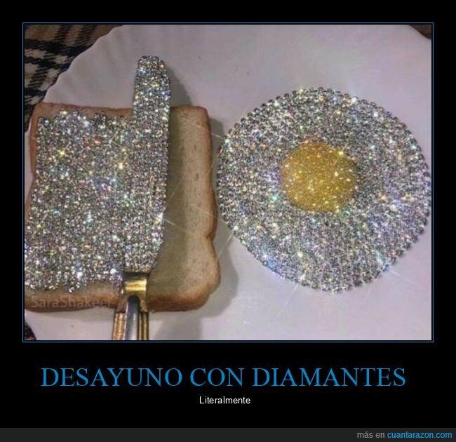 desayuno,diamantes,wtf