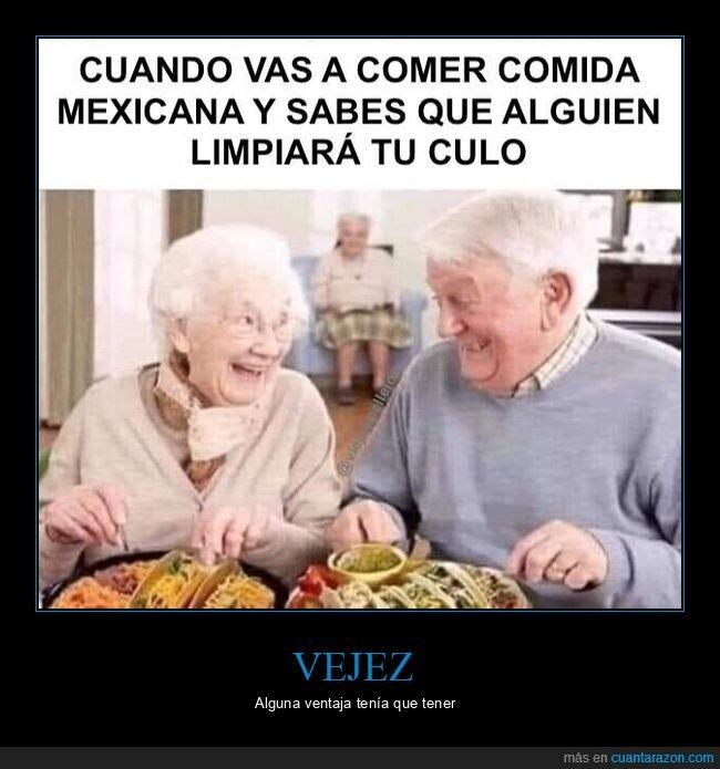 abuelos,comida mexicana,culo,limpiar