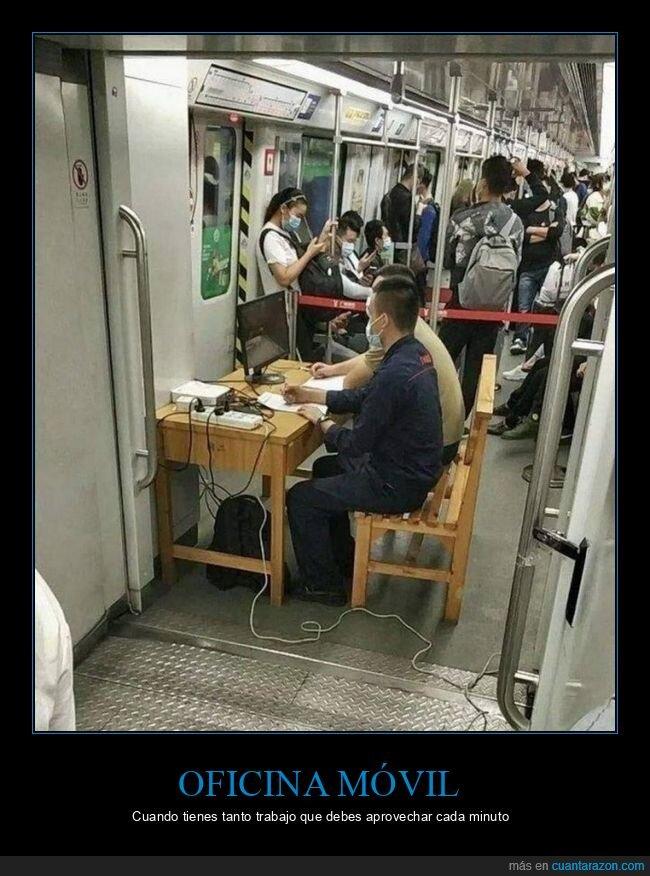 mesa,metro,trabajo