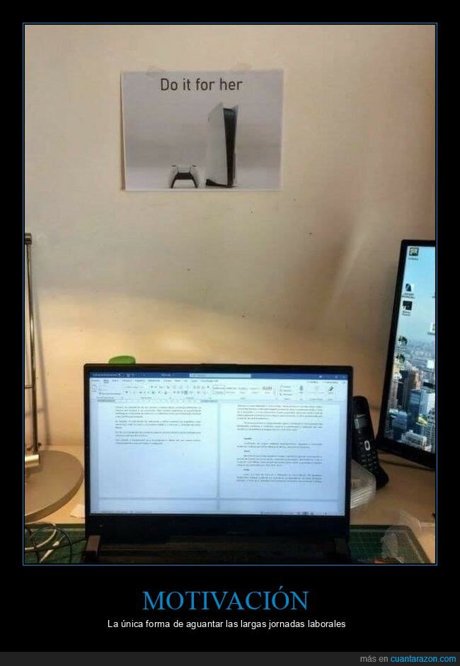 motivación,playstation 5,trabajo