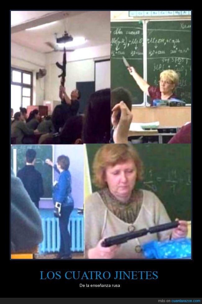 armas,profesores,rusos,wtf
