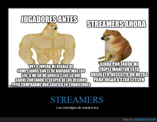 comprar,doge y cheems,jugadores,streamers