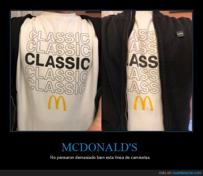 camiseta,fails,mcdonald's