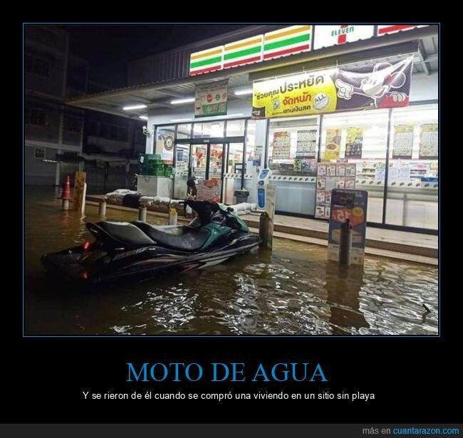 inundación,moto de agua,wtf